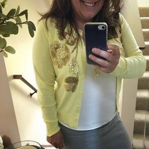 NWT J.Crew Sequin Floral Embroidered Jackie Cardi